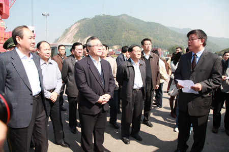 國家交通運輸部部長李盛霖考察西江航運情況 加快內河航運建設促區域協調發展
